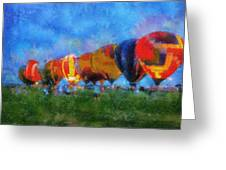 Hot Air Balloons Photo Art 01 Greeting Card