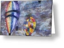 Hot Air Balloons Photo Art 02 Greeting Card