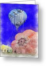 Hot Air Balloons Photo Art 03 Greeting Card
