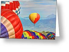 Hot Air Balloons Greeting Card by Scott Mahon