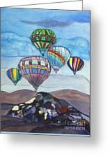 Hot Air Baloons Greeting Card