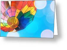 Hot Air Bokeh Greeting Card
