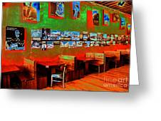 Hot Bar-glow Greeting Card