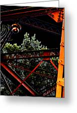 Hot Bridge At Night Greeting Card