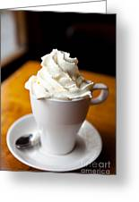 Hot Chocolate With Creme Chantilly Greeting Card