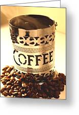 Hot Coffee Greeting Card