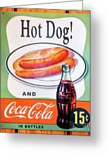 Hot Dog And A Coke Greeting Card
