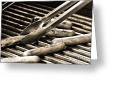 Hot Dogs On The Grill Greeting Card