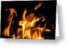 Hot Fire Greeting Card