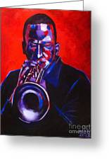 Hot Jazz Greeting Card