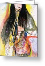 Hot Jazz Lady Greeting Card