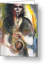 Hot Jazz Man Greeting Card