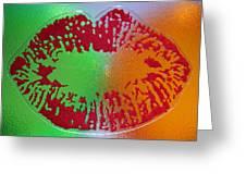 Hot Kiss Greeting Card