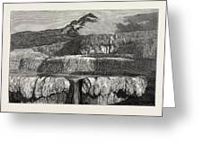 Hot Lakes Of New Zealand The Tattooed Basin Greeting Card
