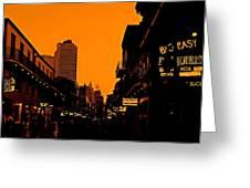 Hot Nights On Bourbon Street Greeting Card