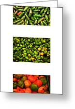 Hot Pepper Collage Greeting Card
