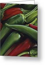 Hot Peppers Greeting Card by Natasha Denger