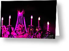 Hot Pink Chandelier Greeting Card