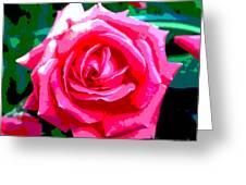 Hot Pink Rose Greeting Card