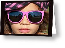 Hot Pink Sunglasses Greeting Card