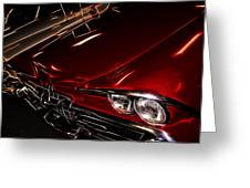 Hot Red Car  Greeting Card