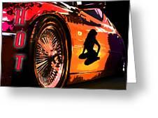 Hot Red Car Greeting Card
