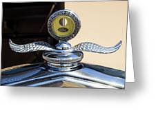Hot Rod Car Instrument Detail Greeting Card