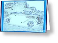 Hot Rod Digi Sketch Greeting Card