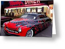 Hot Rod Diner Classic  Greeting Card