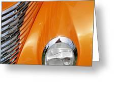 Hot Rod Headlight Greeting Card
