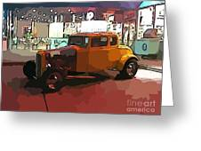 Hot Rod Icon Greeting Card