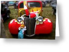 Hot Rod Pickup Truck Greeting Card