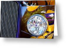 Hot Rod Show Car Light Greeting Card