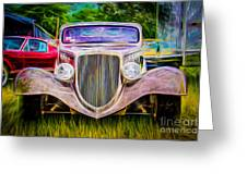 Hot Rod Show Greeting Card