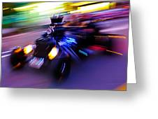 Hot Rod Warp Greeting Card by Phil 'motography' Clark