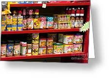 Hot Sauce On Store Shelf Greeting Card