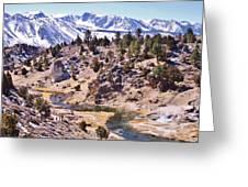 Hot Sierra Spring Greeting Card