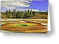 Prismatic Geyser Yellowstone National Park Greeting Card