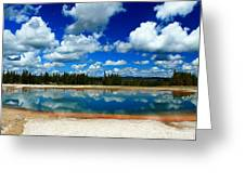 Hot Springs And Clouds Greeting Card