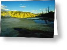 Hot Springs Yellowstone Greeting Card