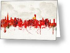 Hot Summer Day In Chicago Greeting Card