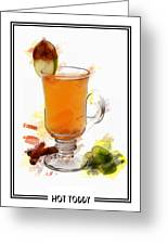 Hot Toddy Cocktail Marker Sketch Greeting Card