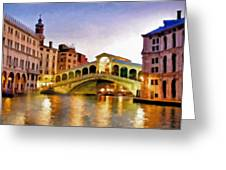 Hot Venetian Nights Greeting Card