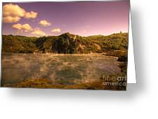 Hot Water Lake Greeting Card