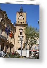 Hotel De Ville - Aix En Provence Greeting Card