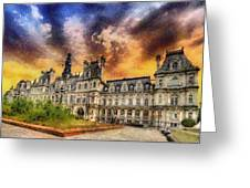 Sunset At The Hotel De Ville Greeting Card