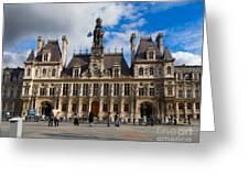 Hotel De Ville The Paris City Hall Greeting Card