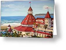 Hotel Del Coronado From Above Greeting Card