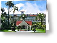 Hotel Del Courtyard Greeting Card