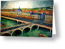 Hotel Dieu De Lyon II Greeting Card